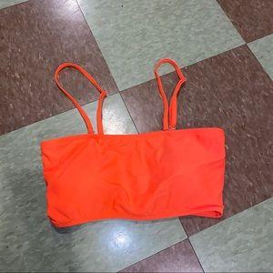 UO orange square bikini top md